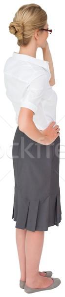 Pense femme d'affaires main hanche blanche affaires Photo stock © wavebreak_media