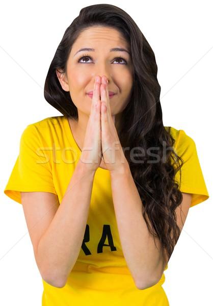 Nervous football fan in brasil tshirt Stock photo © wavebreak_media