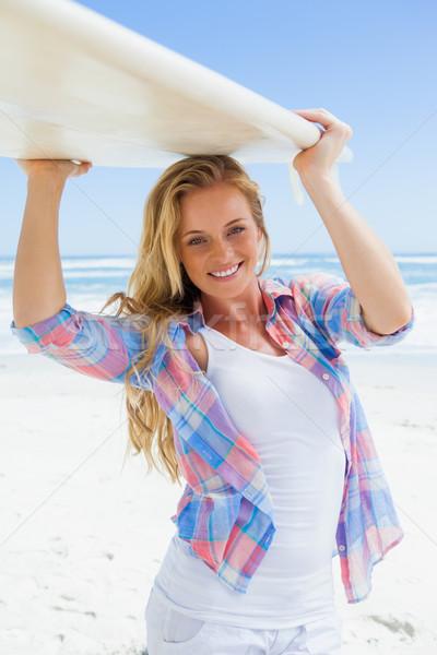 Surfer bordo sorridere fotocamera Foto d'archivio © wavebreak_media