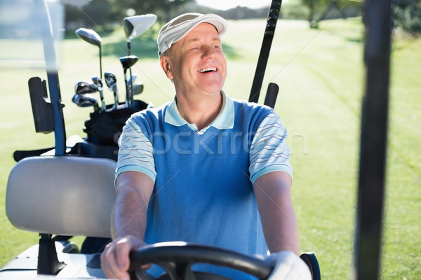 Mutlu golfçü sürücü golf golf sahası Stok fotoğraf © wavebreak_media