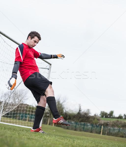 Kapus piros rúg labda messze gól Stock fotó © wavebreak_media