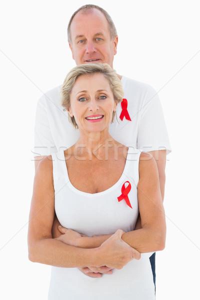 Maduro casal sida consciência juntos branco Foto stock © wavebreak_media