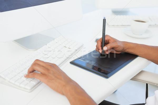 дизайнера рабочих столе компьютер дизайна экране Сток-фото © wavebreak_media