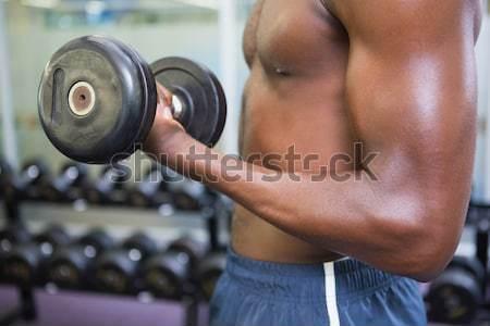 Muscular hombre gimnasio sin camisa Foto stock © wavebreak_media