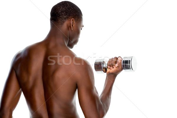 Widok z tyłu dopasować półnagi młody człowiek Zdjęcia stock © wavebreak_media