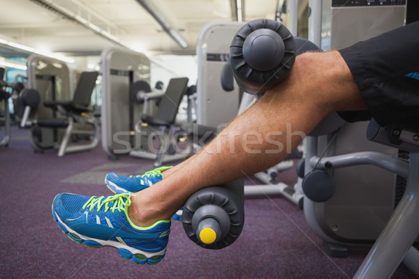Low section of man doing leg workout at gym Stock photo © wavebreak_media