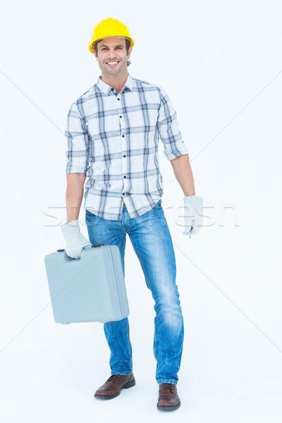 Feliz técnico caixa de ferramentas retrato masculino Foto stock © wavebreak_media