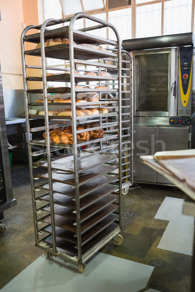 Catering building with shelf of fresh breads Stock photo © wavebreak_media