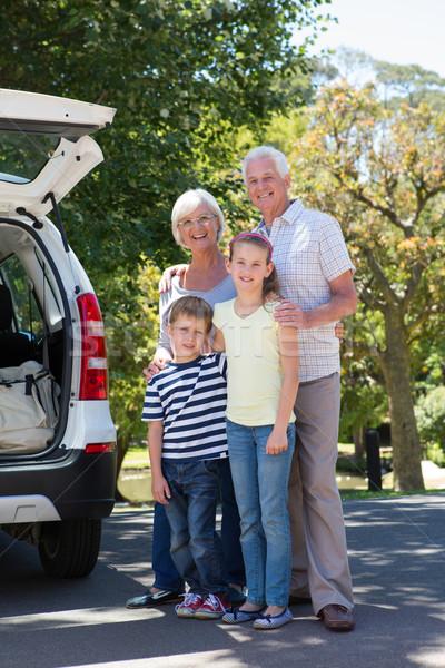 Grandparents going on road trip with grandchildren Stock photo © wavebreak_media