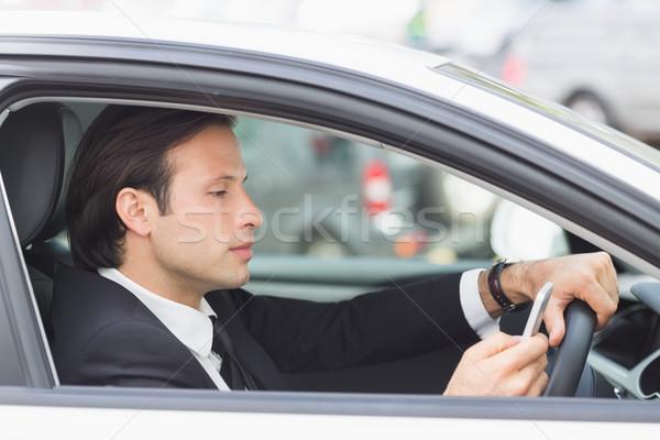 Biznesmen samochodu działalności człowiek Zdjęcia stock © wavebreak_media