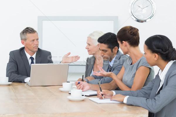 деловые люди заседание служба человека бизнесмен Сток-фото © wavebreak_media