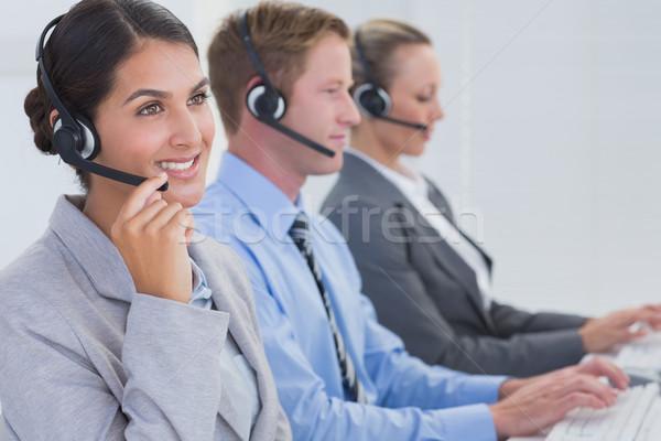 бизнес-команды рабочих компьютеры Call Center женщину Сток-фото © wavebreak_media