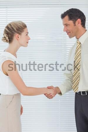Para argument biały kobiet zły mężczyzna Zdjęcia stock © wavebreak_media