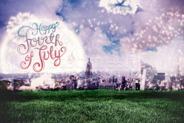 изображение день графических белый фейерверк Сток-фото © wavebreak_media