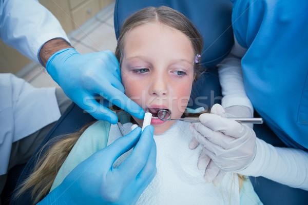 Dentysta asystent dziewcząt zęby Zdjęcia stock © wavebreak_media