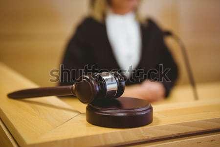 Kalapács pihen bíróság szoba nő törvény Stock fotó © wavebreak_media