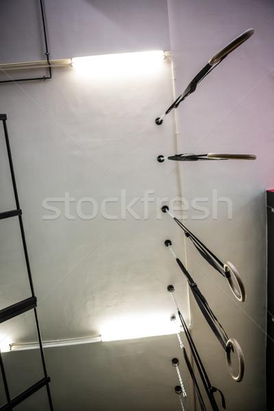 Stok fotoğraf: Jimnastik · halkalar · crossfit · spor · salonu · uygunluk · jimnastik