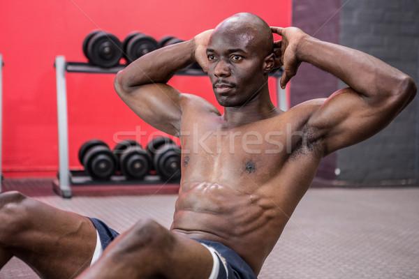 Jungen Bodybuilder Fitnessstudio Mann Gesundheit Stock foto © wavebreak_media