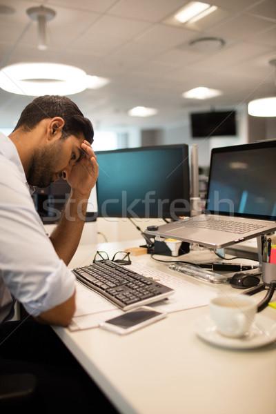 Tensed businessman sitting in office Stock photo © wavebreak_media