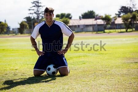 Man getting ready to kick for goal Stock photo © wavebreak_media