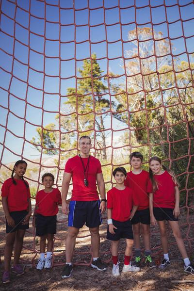 トレーナー 子供 立って 一緒に ブート キャンプ ストックフォト © wavebreak_media
