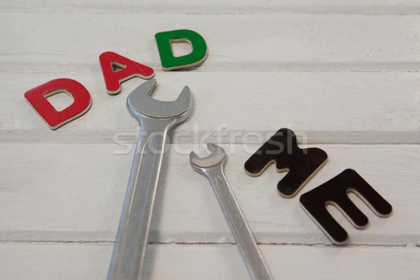 Chiave cacciavite testo papà me legno Foto d'archivio © wavebreak_media