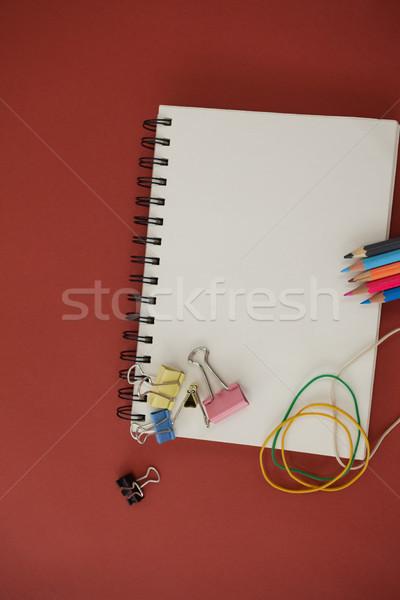 Schoolbenodigdheden Rood venster onderwijs Stockfoto © wavebreak_media