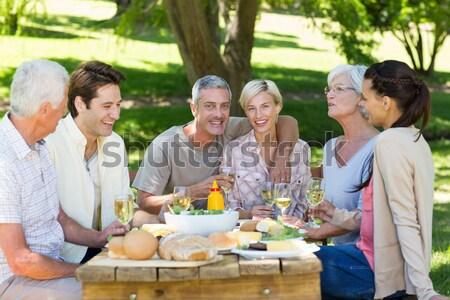 группа друзей обед ресторан продовольствие лет Сток-фото © wavebreak_media