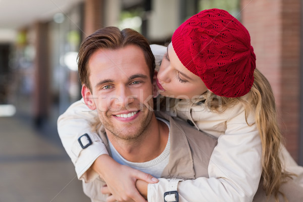 Vriendin vriendje mall vrouw gelukkig mode Stockfoto © wavebreak_media