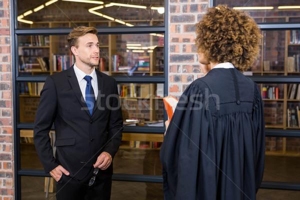 Lawyer interacting with businessman Stock photo © wavebreak_media