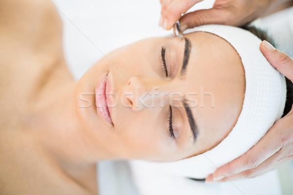 Közelkép csinos nő masszázs fürdő nő egészség Stock fotó © wavebreak_media
