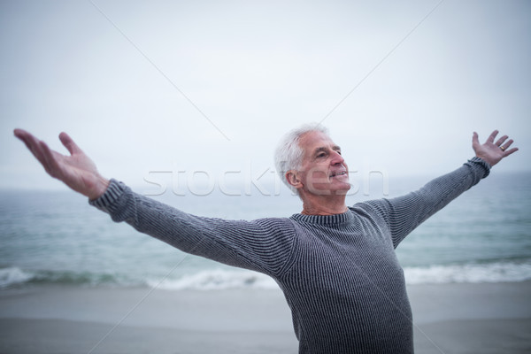 Senior man with arms outstretched Stock photo © wavebreak_media