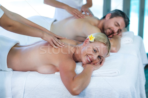 Maakt een reservekopie massage masseur spa Stockfoto © wavebreak_media