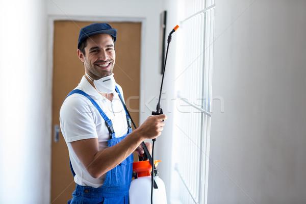 Ritratto felice lavoratore uomo finestra industria Foto d'archivio © wavebreak_media