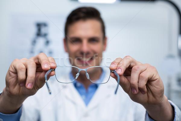 Uśmiechnięty okulista okulary kliniki Zdjęcia stock © wavebreak_media