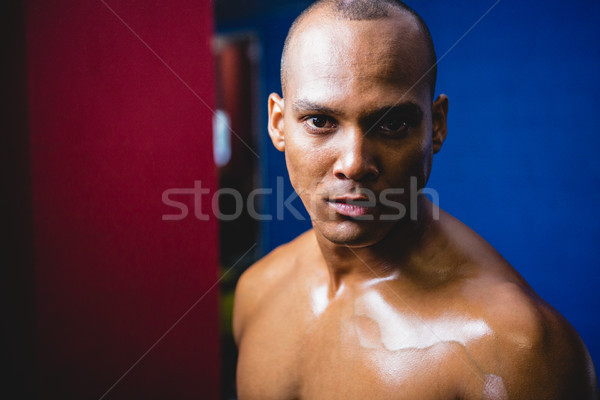 Ernstig mannelijke atleet gymnasium portret fitness Stockfoto © wavebreak_media