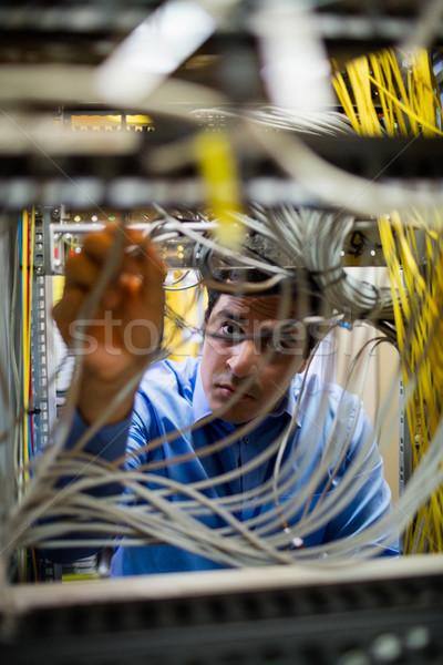 Technik kabel uważny serwera pokój Zdjęcia stock © wavebreak_media