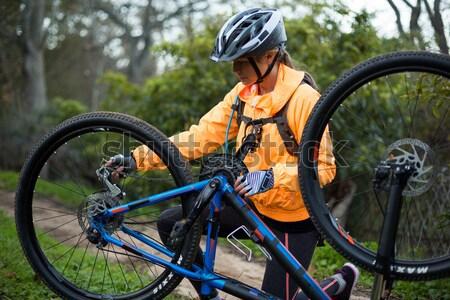 Feminino mountain bike Foto stock © wavebreak_media