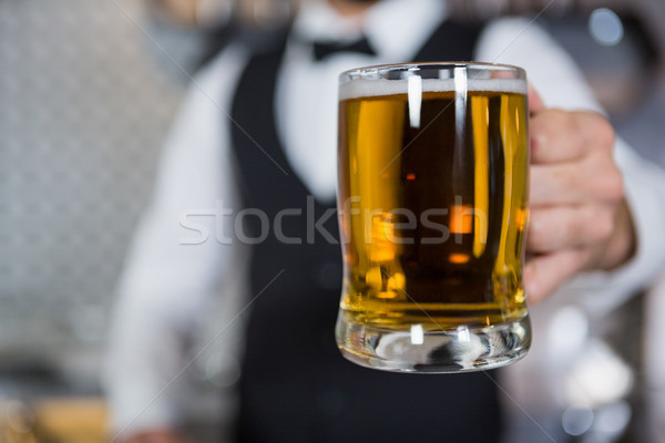 Csapos tart üveg sör bár pult Stock fotó © wavebreak_media