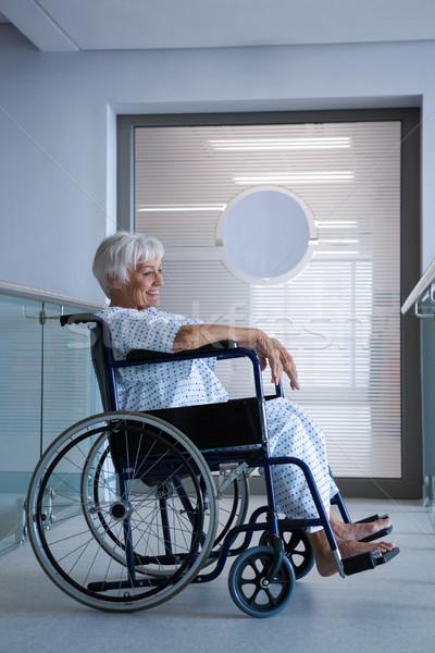 Discapacidad altos paciente silla de ruedas hospital mujer Foto stock © wavebreak_media