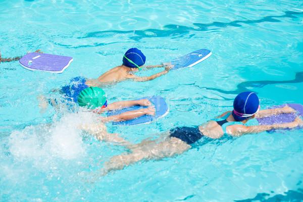 Pequeño piscina agua nina feliz verano Foto stock © wavebreak_media