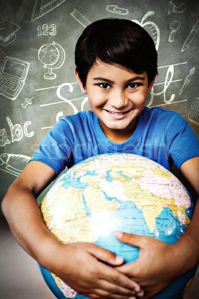 Immagine istruzione scarabocchi felice bambino Foto d'archivio © wavebreak_media