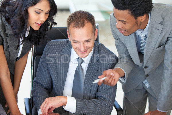 Manager with employees working in office Stock photo © wavebreak_media