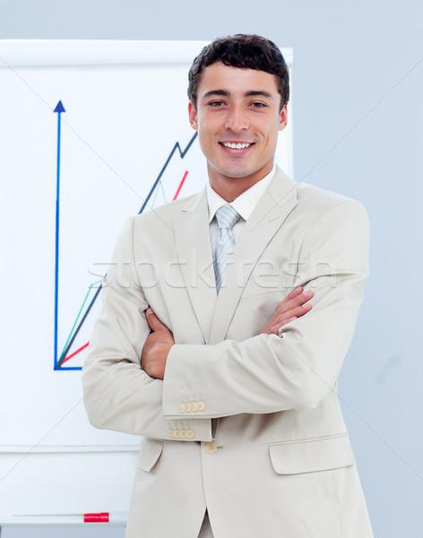 Młodych biznesmen prezentacji firmy spotkanie konferencji Zdjęcia stock © wavebreak_media
