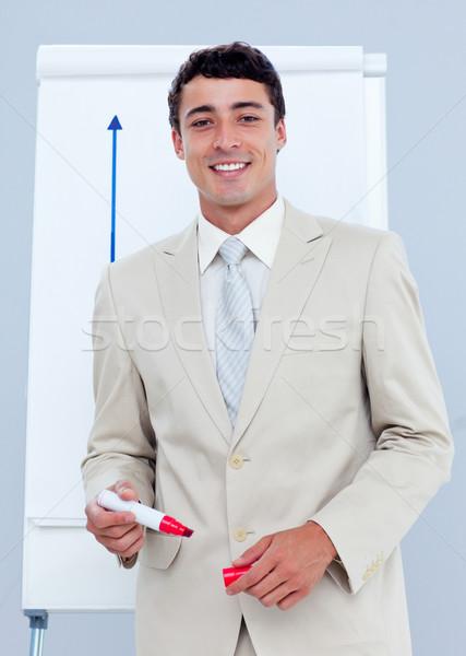 очаровательный бизнесмен презентация компания бизнеса заседание Сток-фото © wavebreak_media