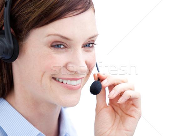 Portret charismatische klant agent werk witte Stockfoto © wavebreak_media
