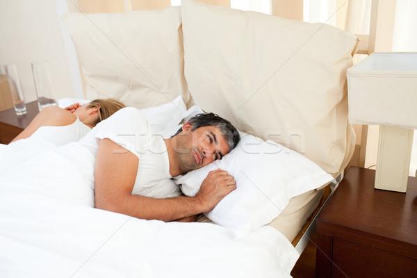 悲しい カップル 引数 ベッド 女性 ホーム ストックフォト © wavebreak_media