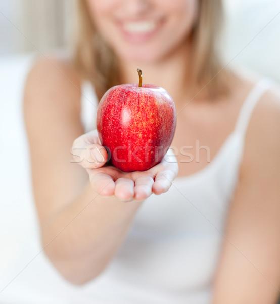 женщину яблоко домой Сток-фото © wavebreak_media