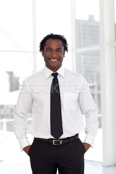 üzletember üzlet boldog modell portré vállalati Stock fotó © wavebreak_media