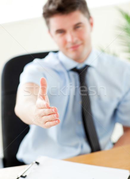 Zakenman hand kantoor business bouw Stockfoto © wavebreak_media